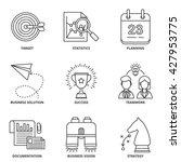 business vector icons set... | Shutterstock .eps vector #427953775