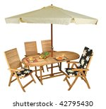 wooden table and chairs  ... | Shutterstock . vector #42795430