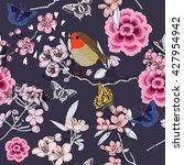 Cherry Blossom Seamless Pattern ...