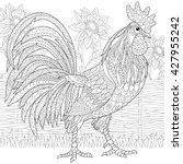 zentangle stylized cartoon... | Shutterstock .eps vector #427955242