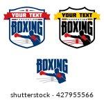 set of boxing emblems  labels ...