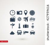 travel icons set | Shutterstock .eps vector #427959616