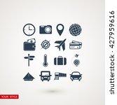 travel icons set | Shutterstock .eps vector #427959616