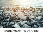 Nature Background With Pebble...