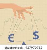 manipulating currency exchange... | Shutterstock .eps vector #427970752