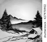 Black And White Winter Landscape