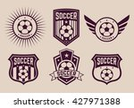 different logos and icons... | Shutterstock .eps vector #427971388