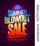 sizzling discounts  summer... | Shutterstock .eps vector #427971406