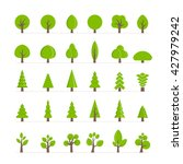 vector different trees  bushes  ... | Shutterstock .eps vector #427979242