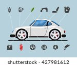 infographic template with car... | Shutterstock .eps vector #427981612