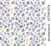 seamless floral pattern with... | Shutterstock .eps vector #427981876