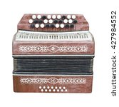 Small photo of old accordion isolated