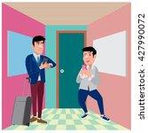 businessman illustration in the ... | Shutterstock .eps vector #427990072