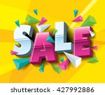 sale layout design with... | Shutterstock .eps vector #427992886