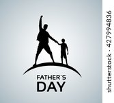 father day holiday  silhouette... | Shutterstock .eps vector #427994836