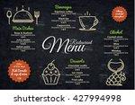 restaurant menu design. vector... | Shutterstock .eps vector #427994998