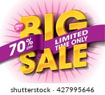 big sale concept with label... | Shutterstock .eps vector #427995646
