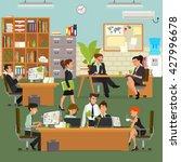 coordinated work in friendly... | Shutterstock .eps vector #427996678