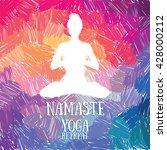 artistic poster for yoga...   Shutterstock .eps vector #428000212