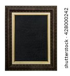 chalkboard with wooden frame ... | Shutterstock . vector #428000242