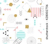 geometric seamless pattern... | Shutterstock .eps vector #428002756