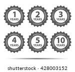 1  2  3  5  10 years warranty... | Shutterstock .eps vector #428003152