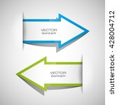 vector arrow banners set.... | Shutterstock .eps vector #428004712