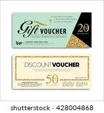 gift voucher  | Shutterstock .eps vector #428004868