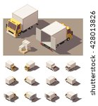 vector isometric icon set or... | Shutterstock .eps vector #428013826