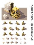 vector isometric icon set or... | Shutterstock .eps vector #428013892