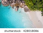 tropical beach with sea and... | Shutterstock . vector #428018086