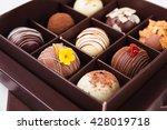 Handmade Chocolates In A Squar...