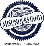 misunderstand rubber grunge...   Shutterstock .eps vector #428024065