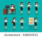 set woman office worker in... | Shutterstock .eps vector #428024512