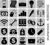 business icon set. 25 icons... | Shutterstock .eps vector #428025532