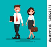 two business partner go... | Shutterstock .eps vector #428029375