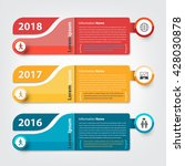 milestone and timeline business ... | Shutterstock .eps vector #428030878