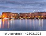 albert dock in liverpool at... | Shutterstock . vector #428031325