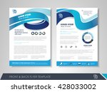 front and back page brochure... | Shutterstock .eps vector #428033002