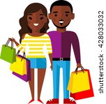 shopping concept with couple... | Shutterstock .eps vector #428033032