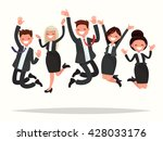 business people celebrating a... | Shutterstock .eps vector #428033176