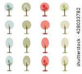 vector simple earth tone color... | Shutterstock .eps vector #428033782