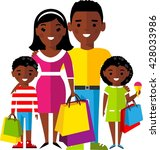 shopping concept with  african... | Shutterstock .eps vector #428033986