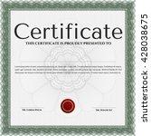 certificate template eps10 jpg... | Shutterstock .eps vector #428038675