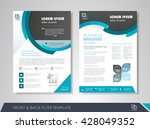 front and back page brochure... | Shutterstock .eps vector #428049352