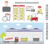 concept of warehouse management | Shutterstock .eps vector #428062216