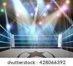 boxing ring with illumination...   Shutterstock . vector #428066392