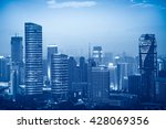 hong kong skyline from victoria ... | Shutterstock . vector #428069356