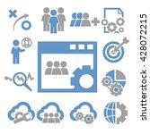management element icon set | Shutterstock .eps vector #428072215