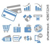 marketing icon set | Shutterstock .eps vector #428072245